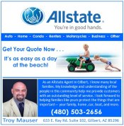 Logo for Allstate Insurance Agent  -- Troy Mauser
