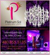 Logo for Platinum Sol Tanning Loft