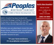 Logo for Peoples Mortgage - Keith Knoeferl