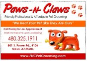 Logo for Paws N Claws