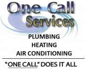 Logo for One Call Services Plumbing, Heating & Air Conditioning