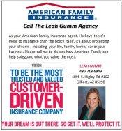 Logo for American Family Insurance - Leah Gumm Agency