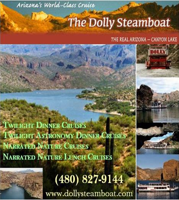 Logo for The Dolly Steamboat