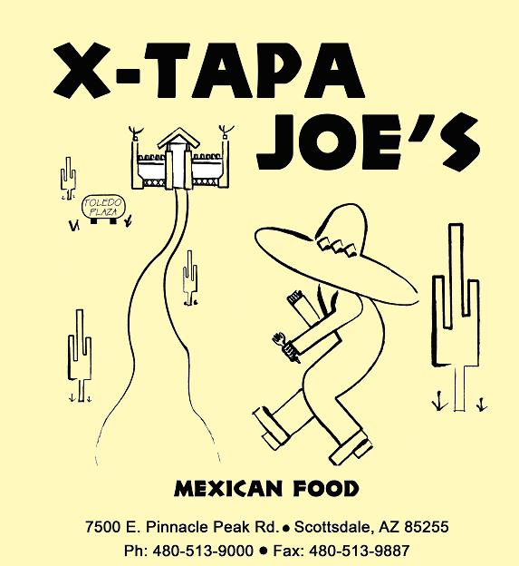 Logo for X-Tapa Joe's Mexican Food