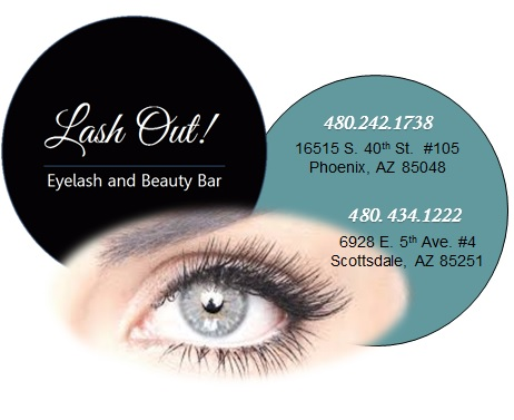 Logo for Lash Out Eyelash & Beauty Bar